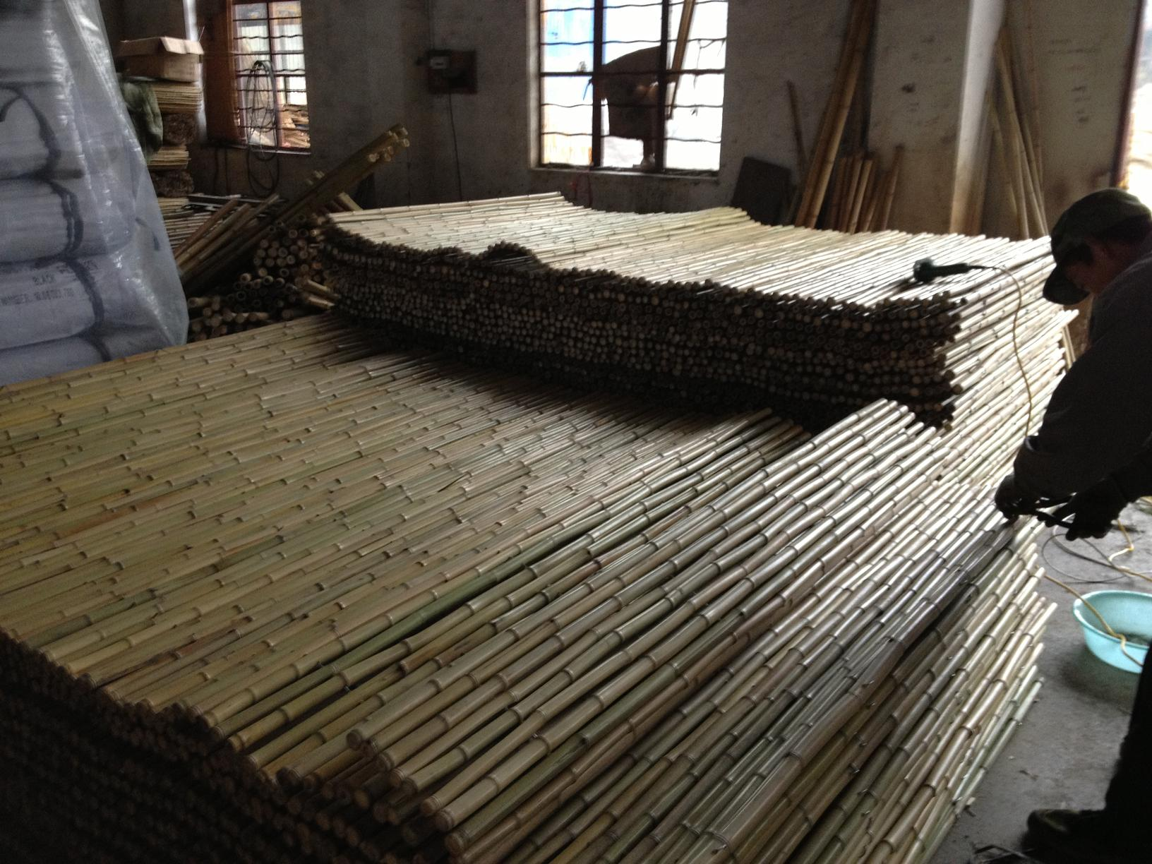 Bamboo fence production